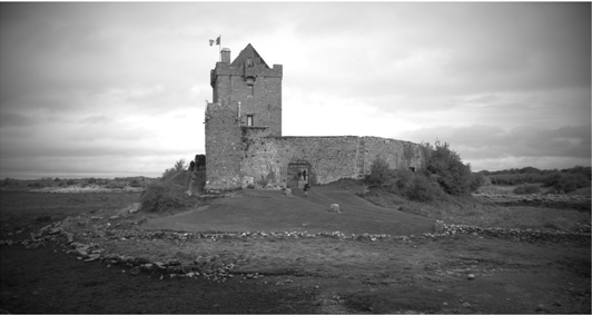 B&W Shot of Dunguaire Castle