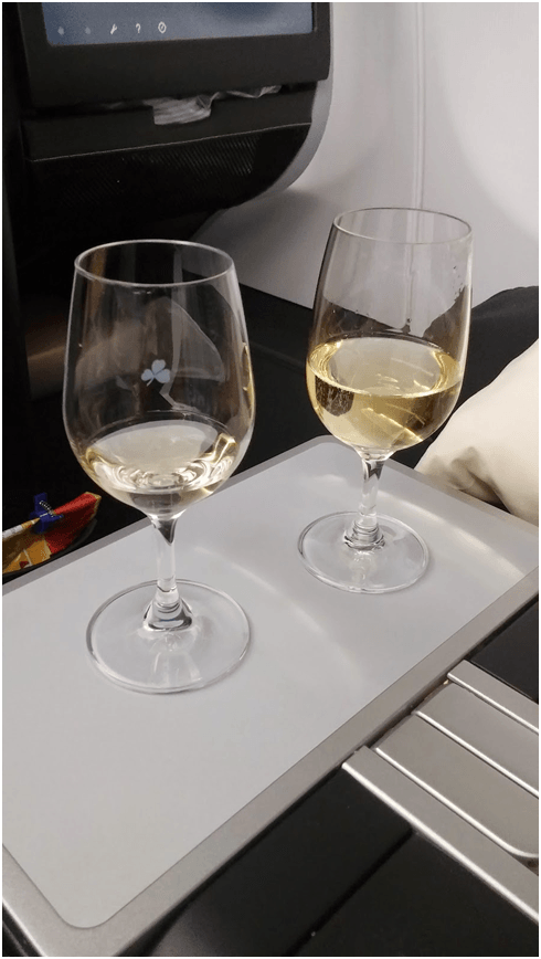 "Complimentary Champagne Upon Boarding – ""Yes, Please!"""
