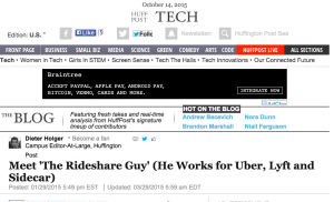 Meet 'The Rideshare Guy' - He Works For Uber, Lyft and Sidecar (Huffington Post)