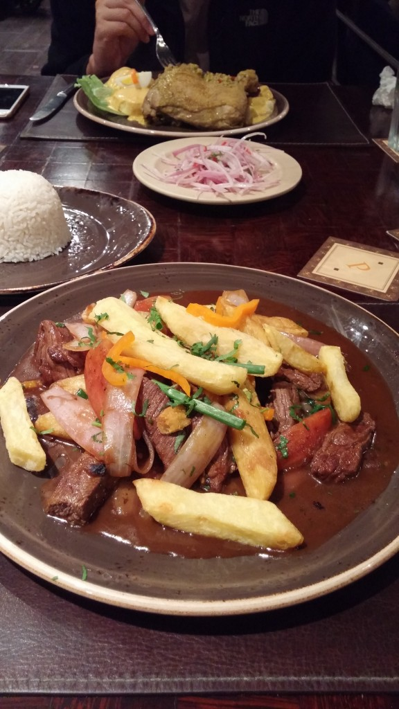 Lomo Saltado at Panchita in Lima