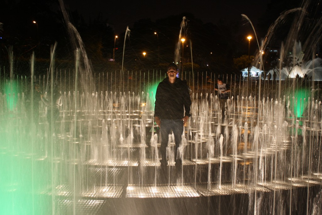 Me Playing In The Fountains at Parque Reserva - LIma, Peru